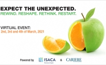 """ISACA Romania Chapter Virtual event """"Expect the unexpected. Rewind. Reshape. Rethink. Restart"""""""